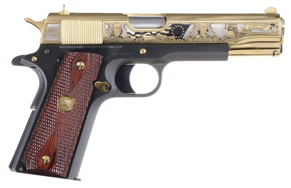 """Colt 1911 """"Colt 1911 """"Founding Fathers Second Amendment Tribute"""" pistol handgun"""