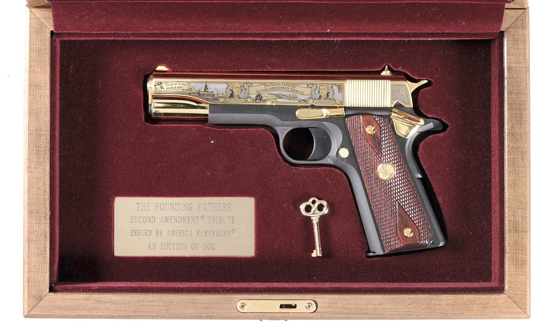 "Colt 1911 ""Founding Fathers Second Amendment Tribute"" pistol"