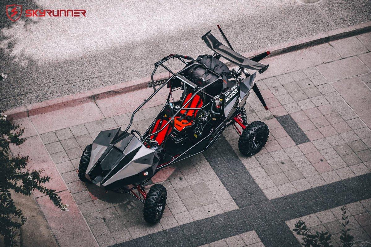 Skyrunner flying off-road buggy