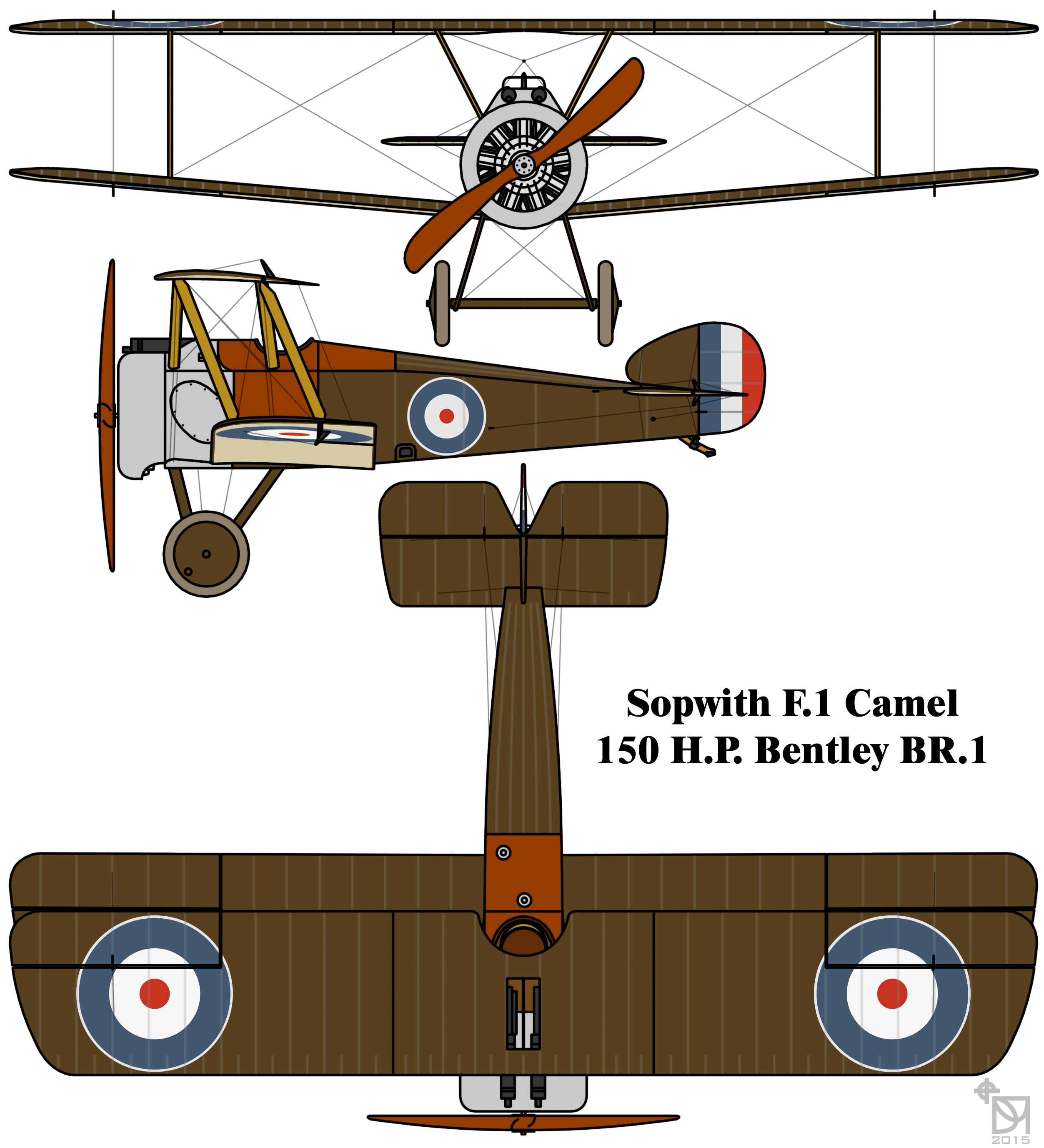 Sopwith Camel Bentley BR.1 radial engine