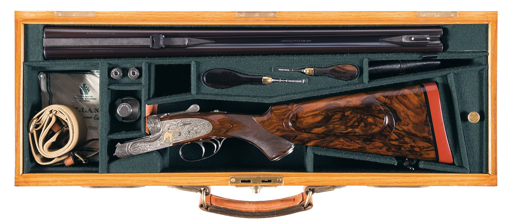 Holland & Holland 500/465 Nitro Express Double Rifle cased
