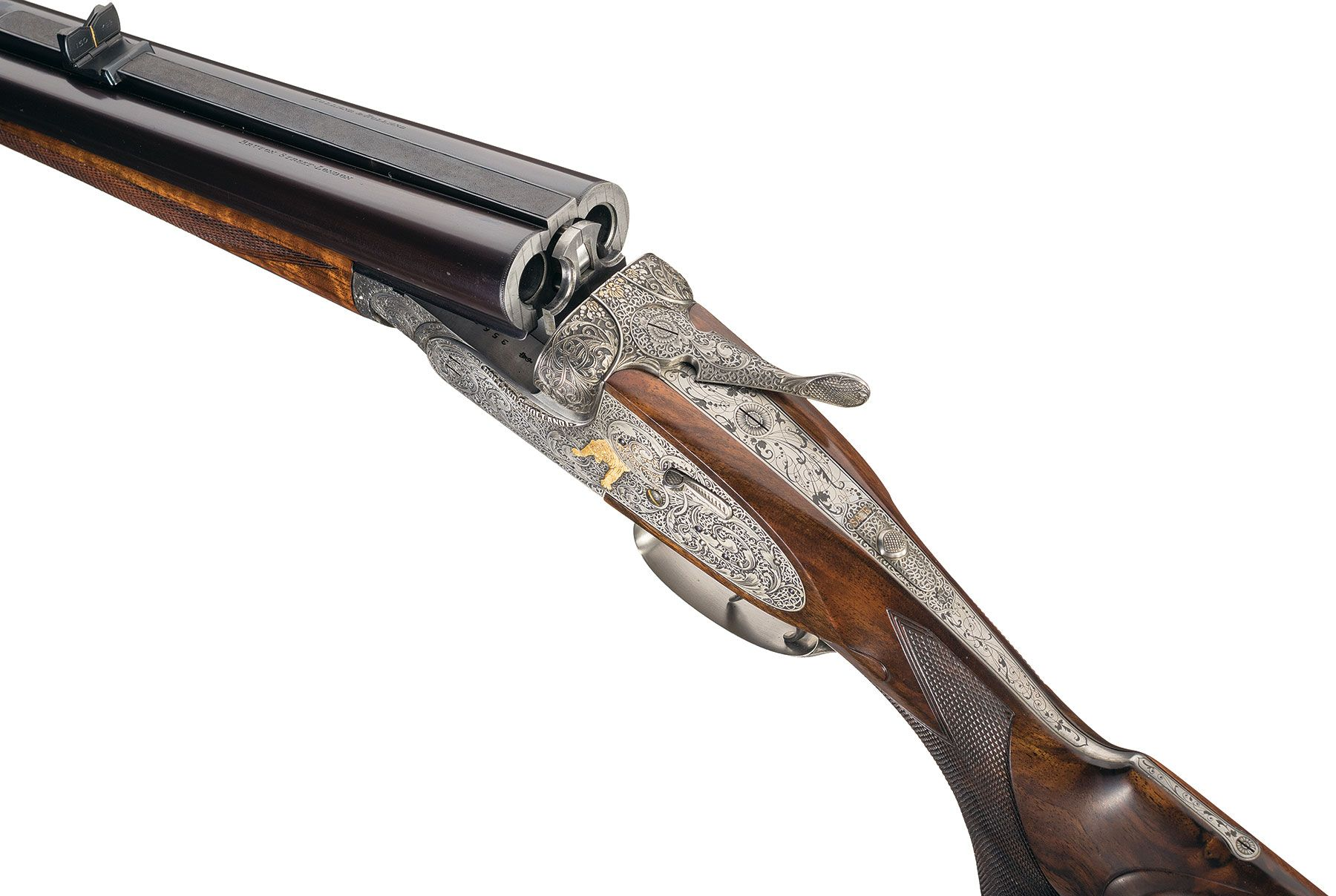 Holland & Holland 500-465 double rifle breech gape