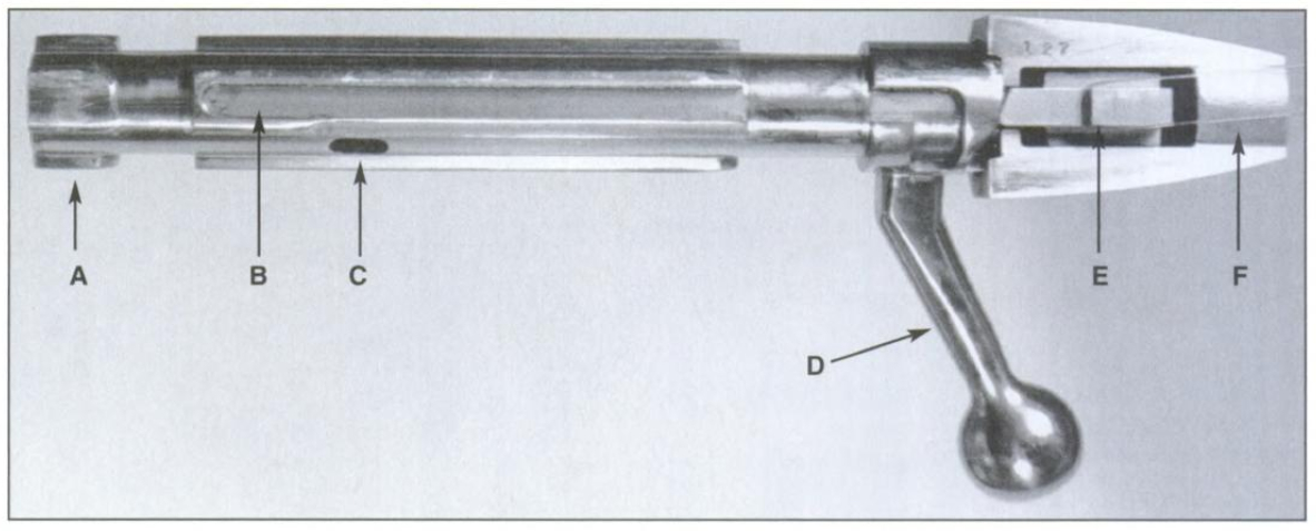 Champlin rifle action bolt