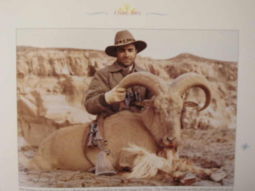 Prince Abdorreza of Iran Barbary Sheep Chad 1961