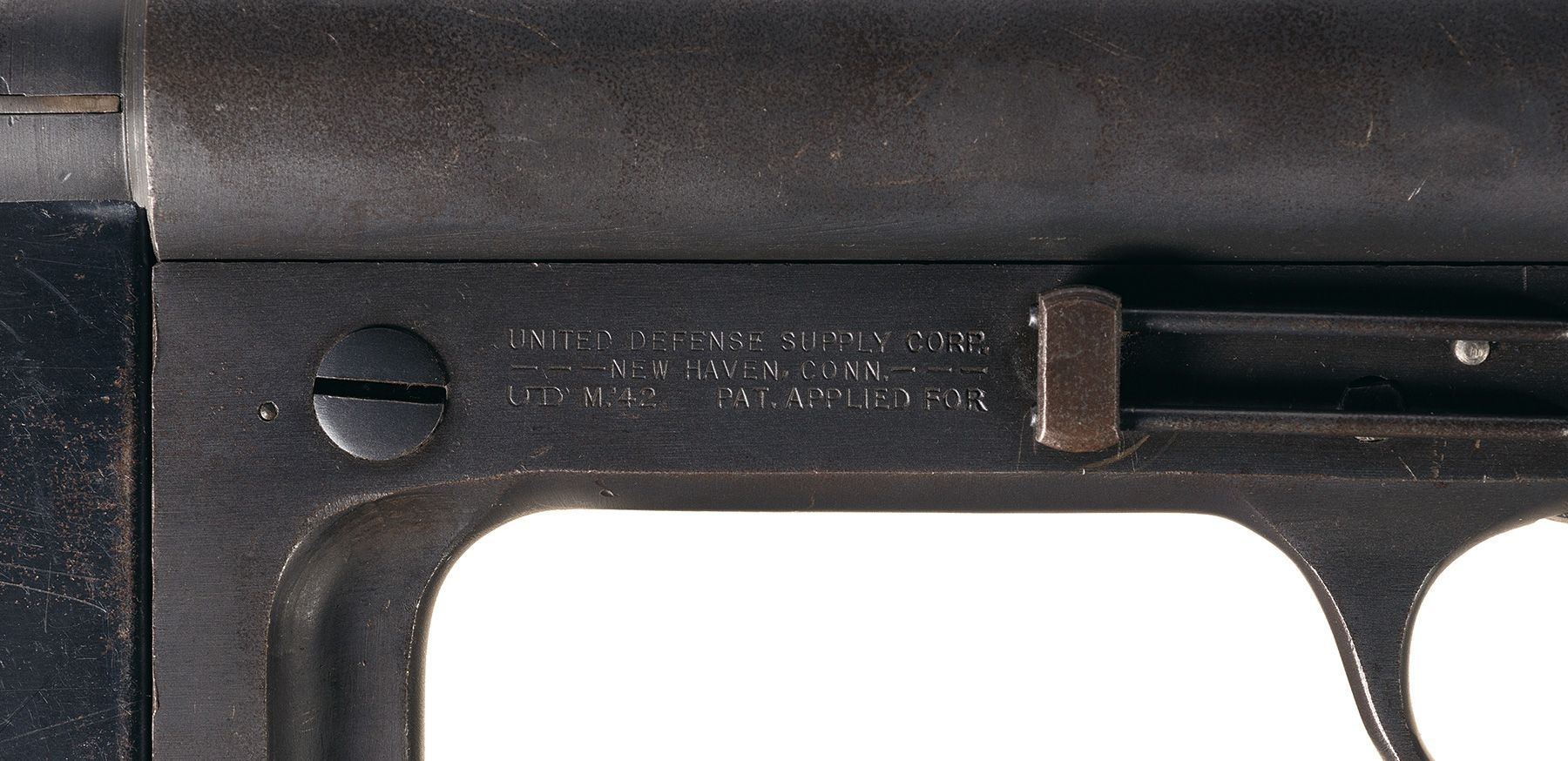 United Defense M42 sub-machine gun roll marks