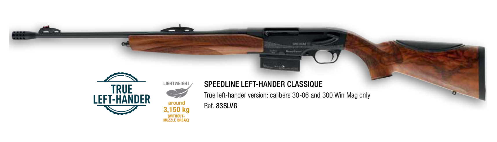 Verney-Carron Speedline Classique Left Hand rifle