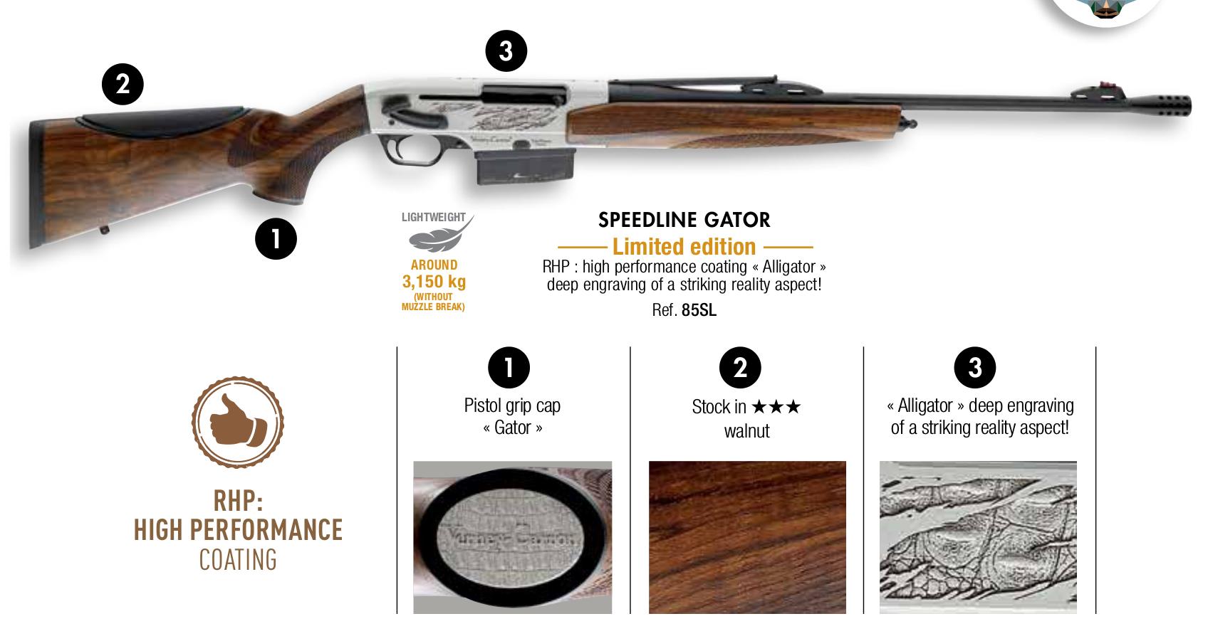 Verney-Carron Speedline Gator limited production rifle