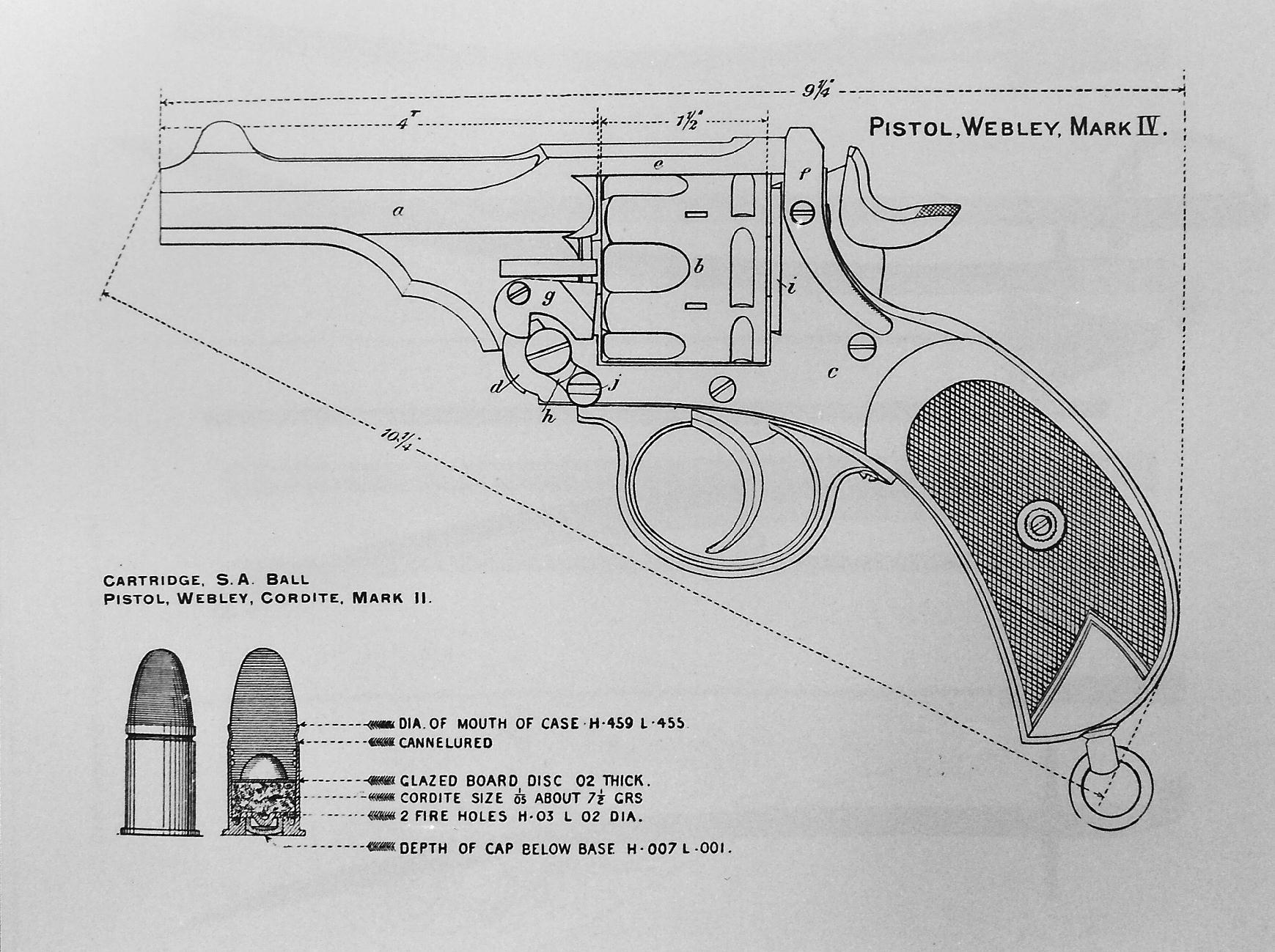 Webley Mark IV revolver patent drawing