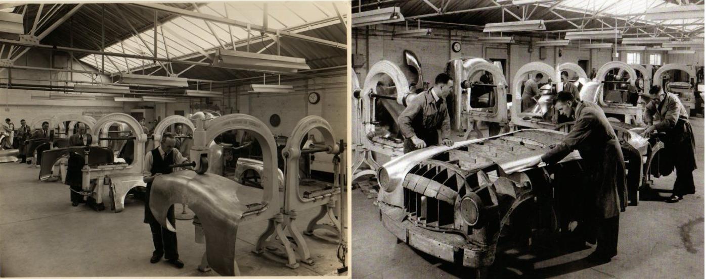 Panelcraft Sheet Metal making body panels Nash-Healey English Wheel machines