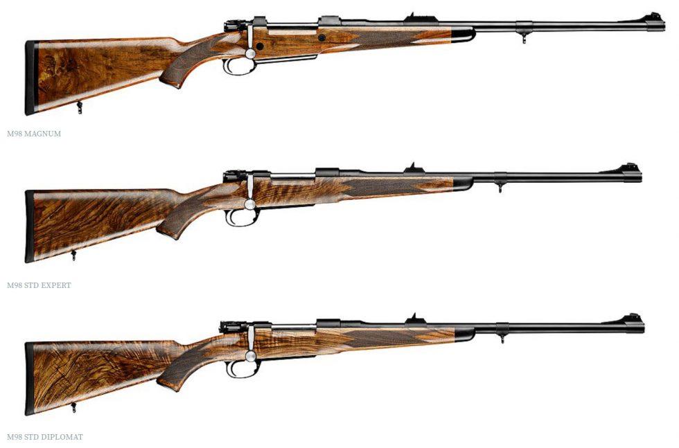 Mauser M98 rifles Magnum Expert Diplomat