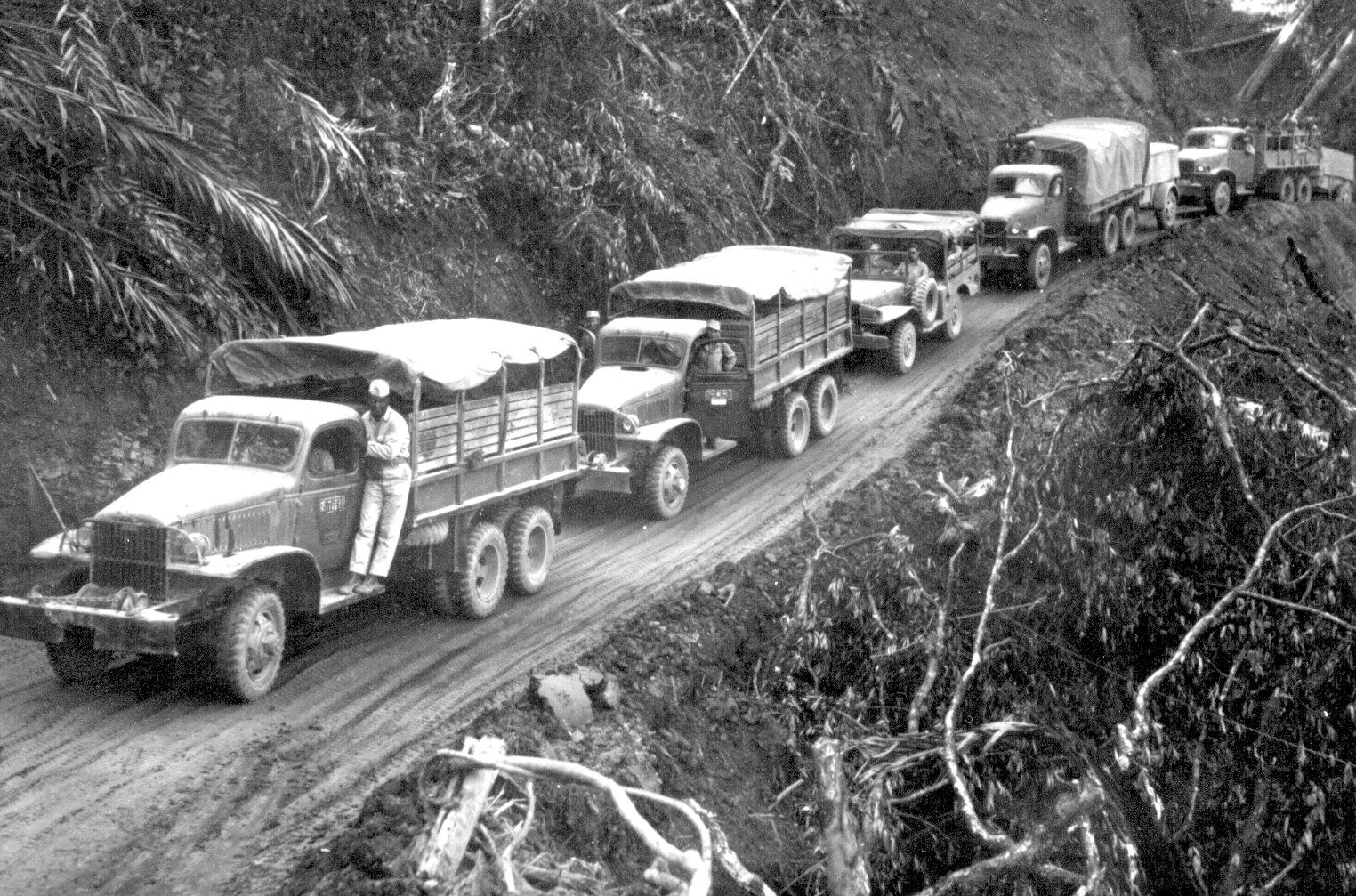 Chevrolet G506 trucks on the Ledo Road