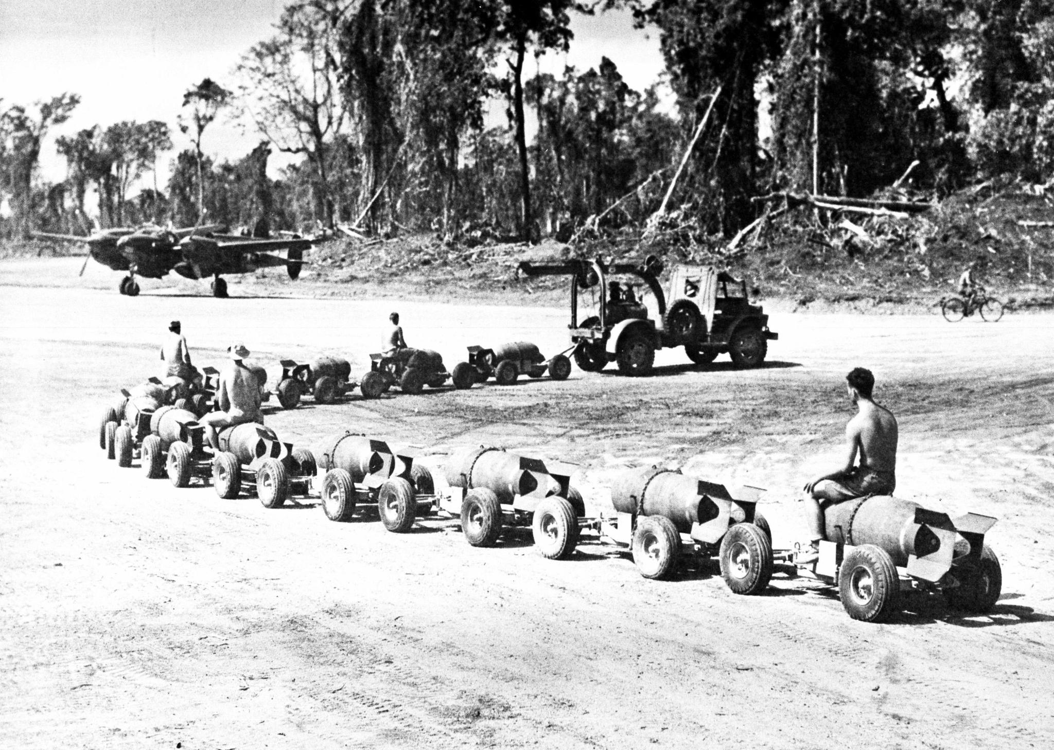 Ford Burma Jeep GTBS bomb train