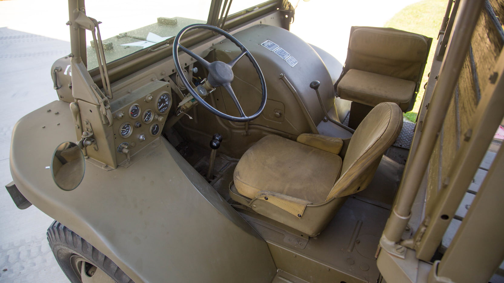 Ford Burma Jeep driver's position