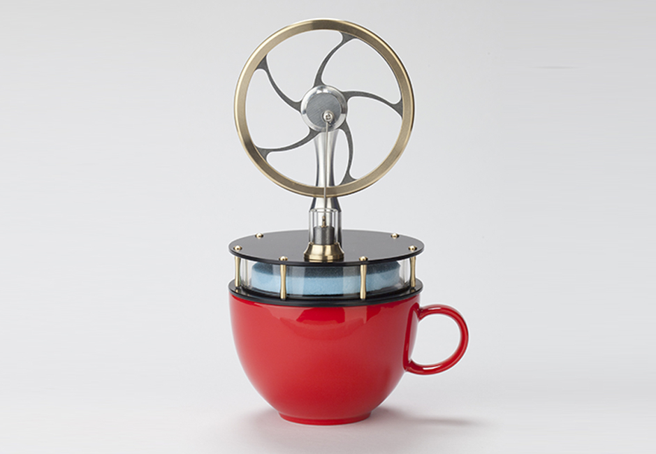 Stirling engine coffee cup teacup
