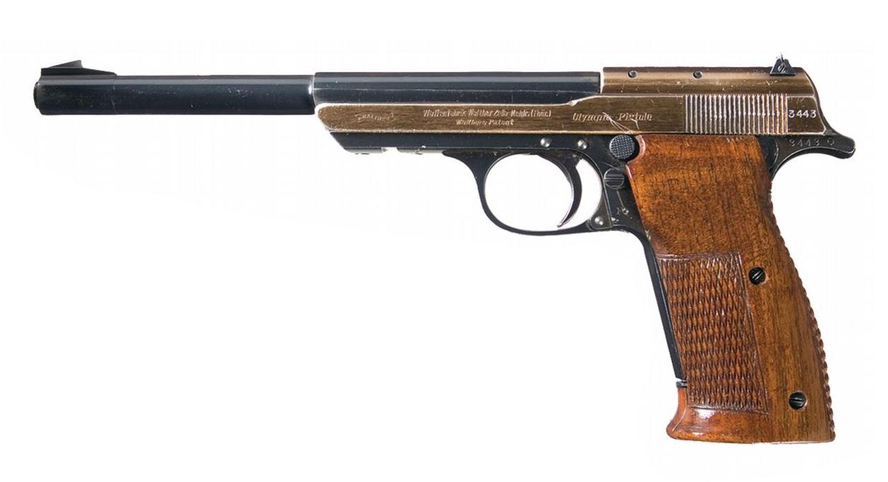 Walther Olympia Pistol 1936 Rapid Fire Model 22short cartridge