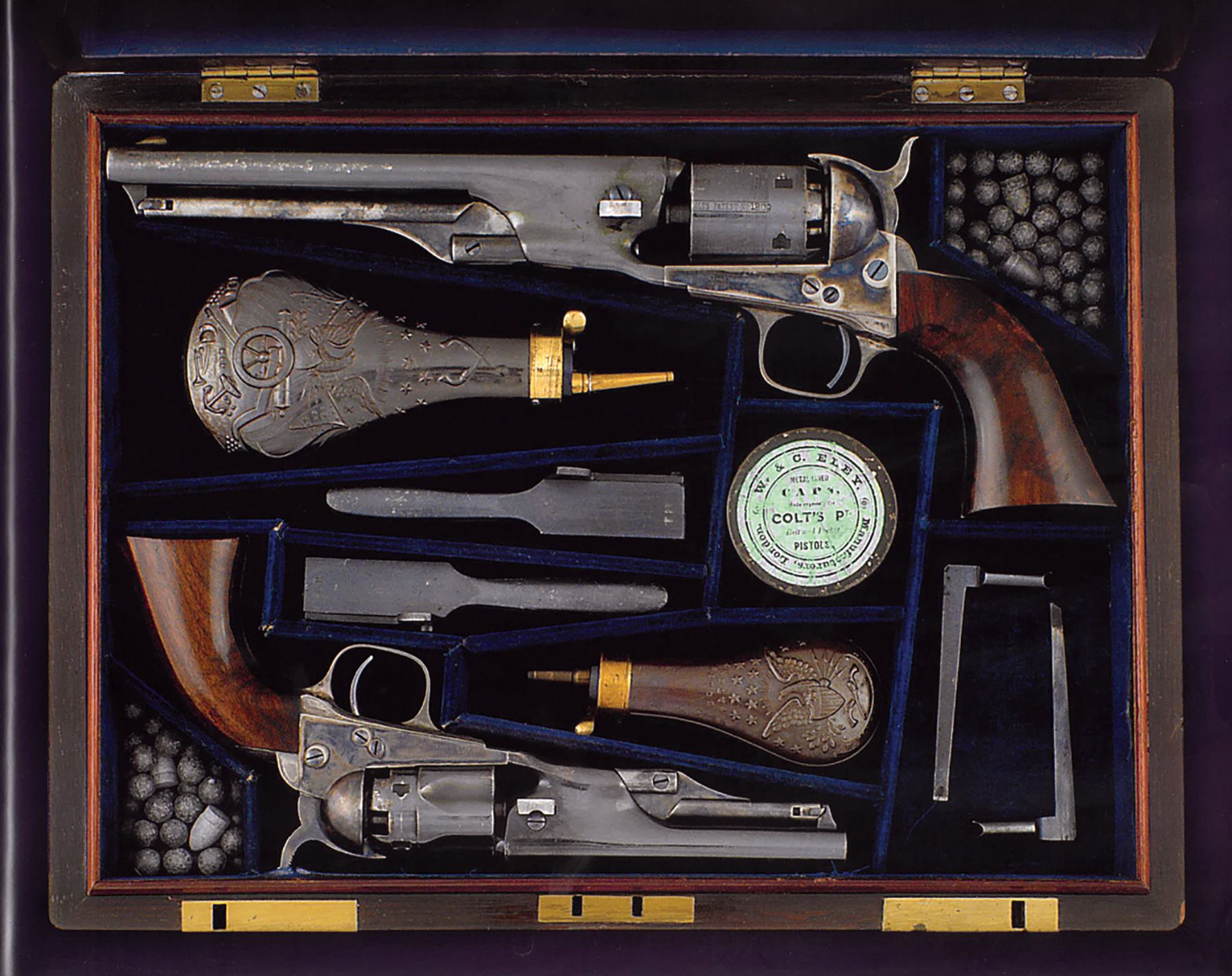 Cased Set Four Colt Revolvers Samuel Colt Brigadier General Andrew Porter