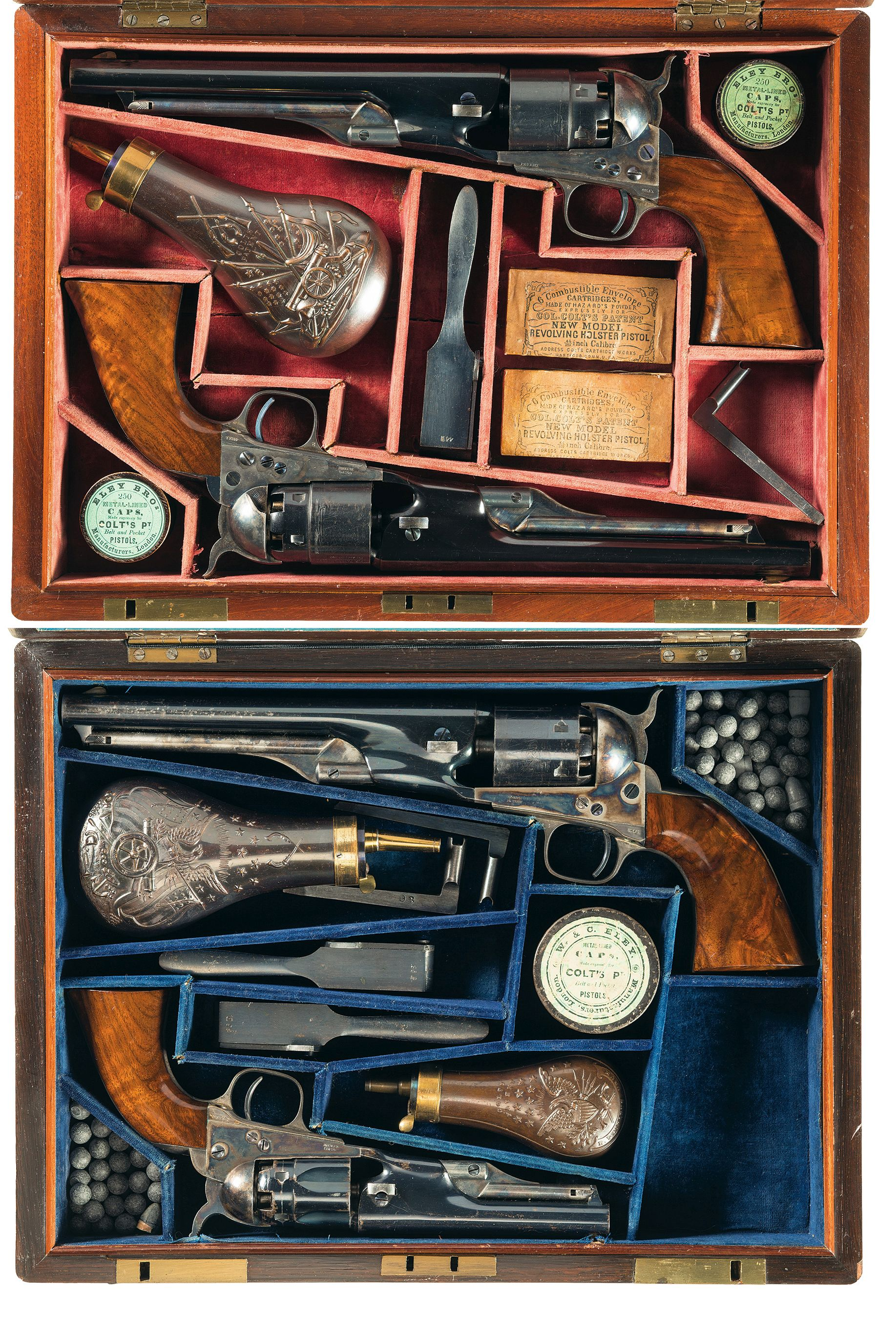 Cased Set of Four Colt Revolvers from Samuel Colt to Brigadier General Andrew Porter Revivaler