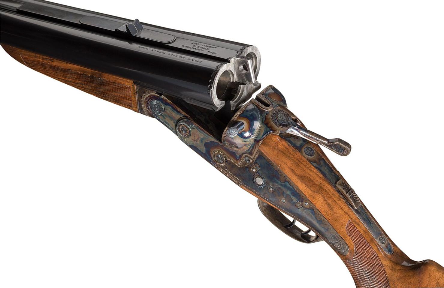"""Ken Owen """"Owen-Rewa"""" 4 Bore Double Rifle"""