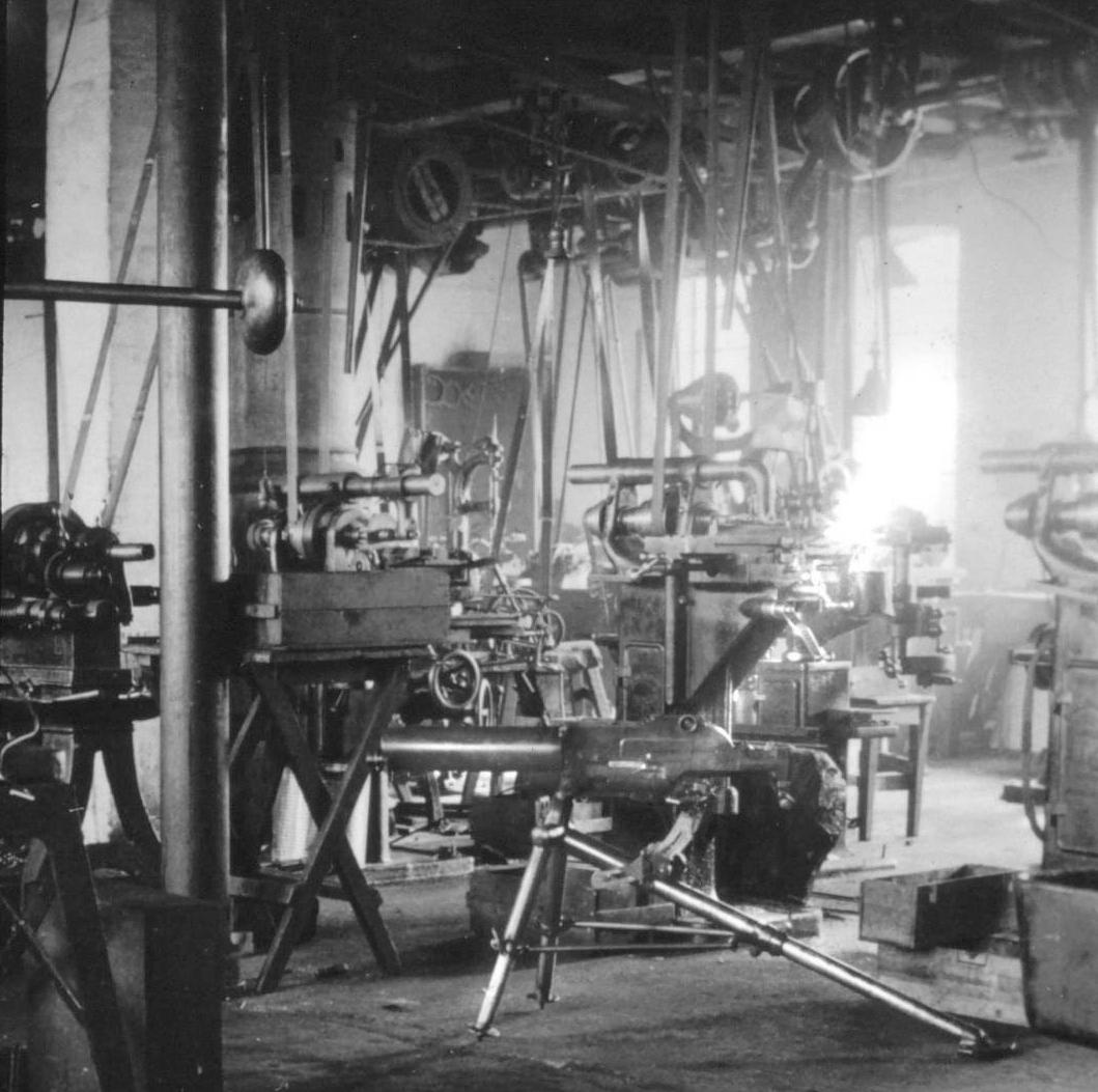 Schultz & Larsen workshop Schwarzlose machine gun