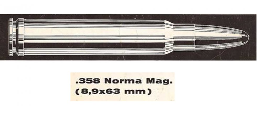 358 Norma Magnum rifle cartridge