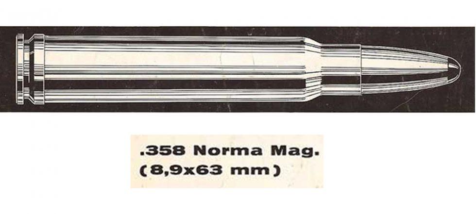 358 Norma Magnum rifle cartridge