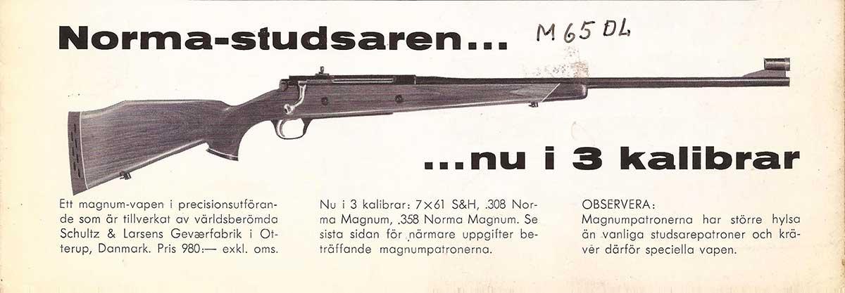 Schultz & Larsen Model 65 rifle