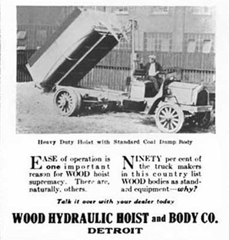 Wood Hydraulic Host tip truck