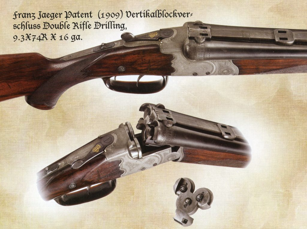 Franz Jaeger patent locking mechinism double rifle drilling