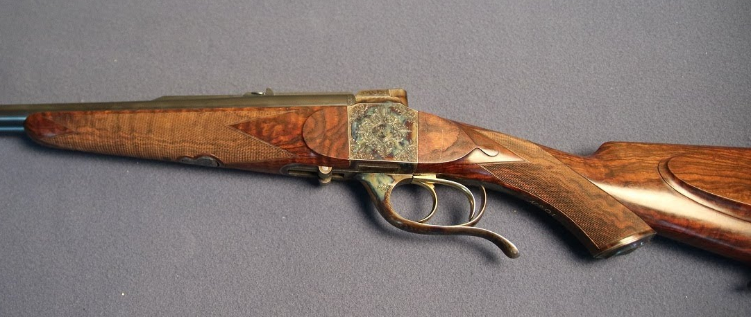 Martin Hagn falling block double rifle