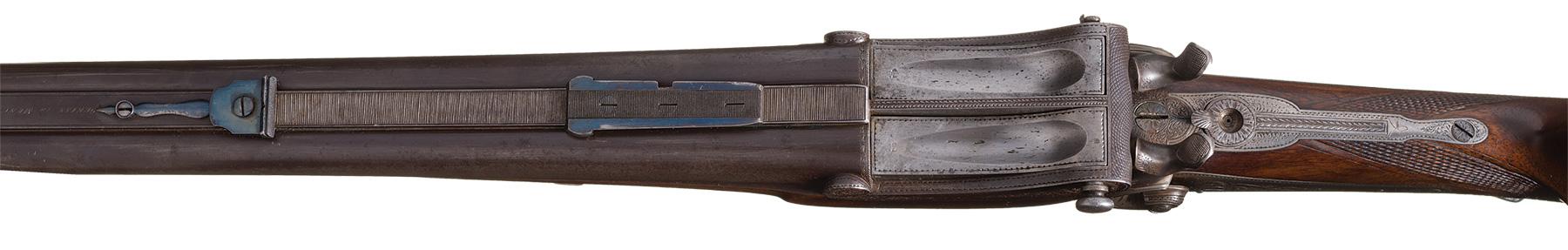 Valentine Greiss falling block double rifle
