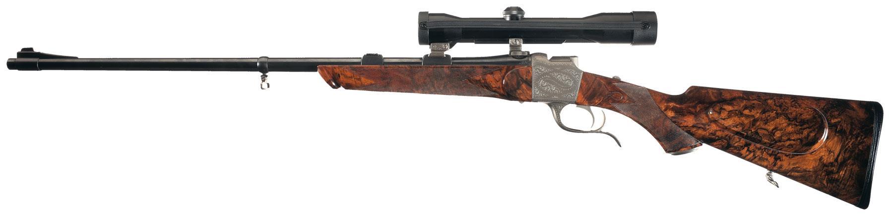 Hagn falling block rifle