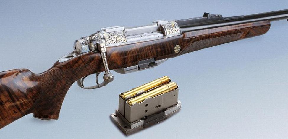 Szecsei bolt action double rifle Fuchs