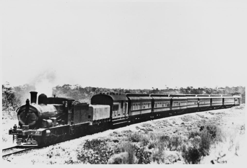 First Train Transcontinental Railway Australia