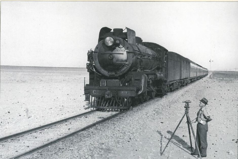 Trans-Australian train steam locomotive