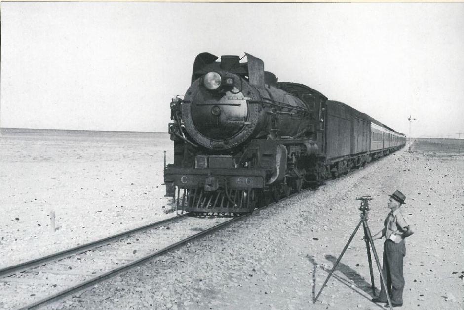 Trans-Australian train steam locomotive