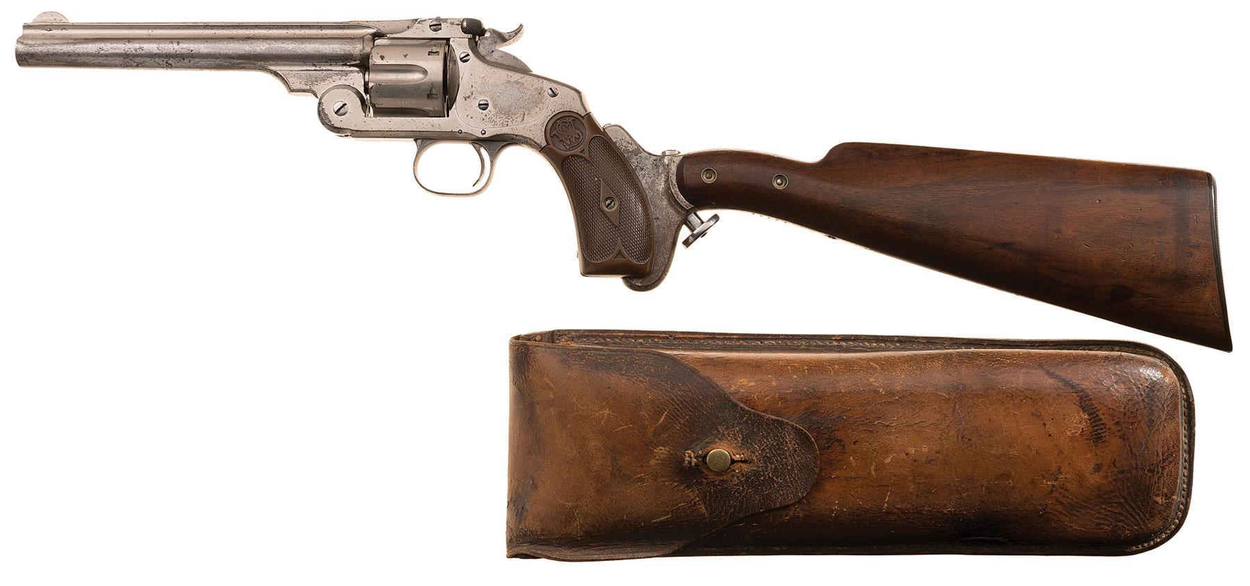 Smith & Wesson No. 3 South Australia Police revolver carbine detachable stock
