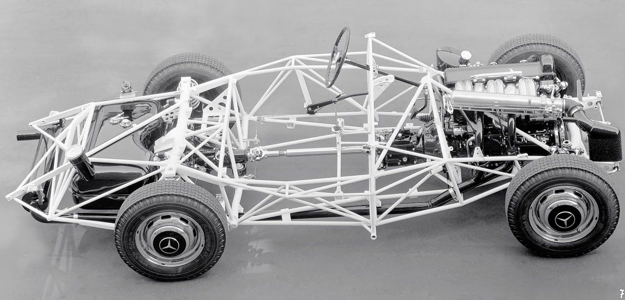 Mercedes-Benz 300SL spaceframe chassis