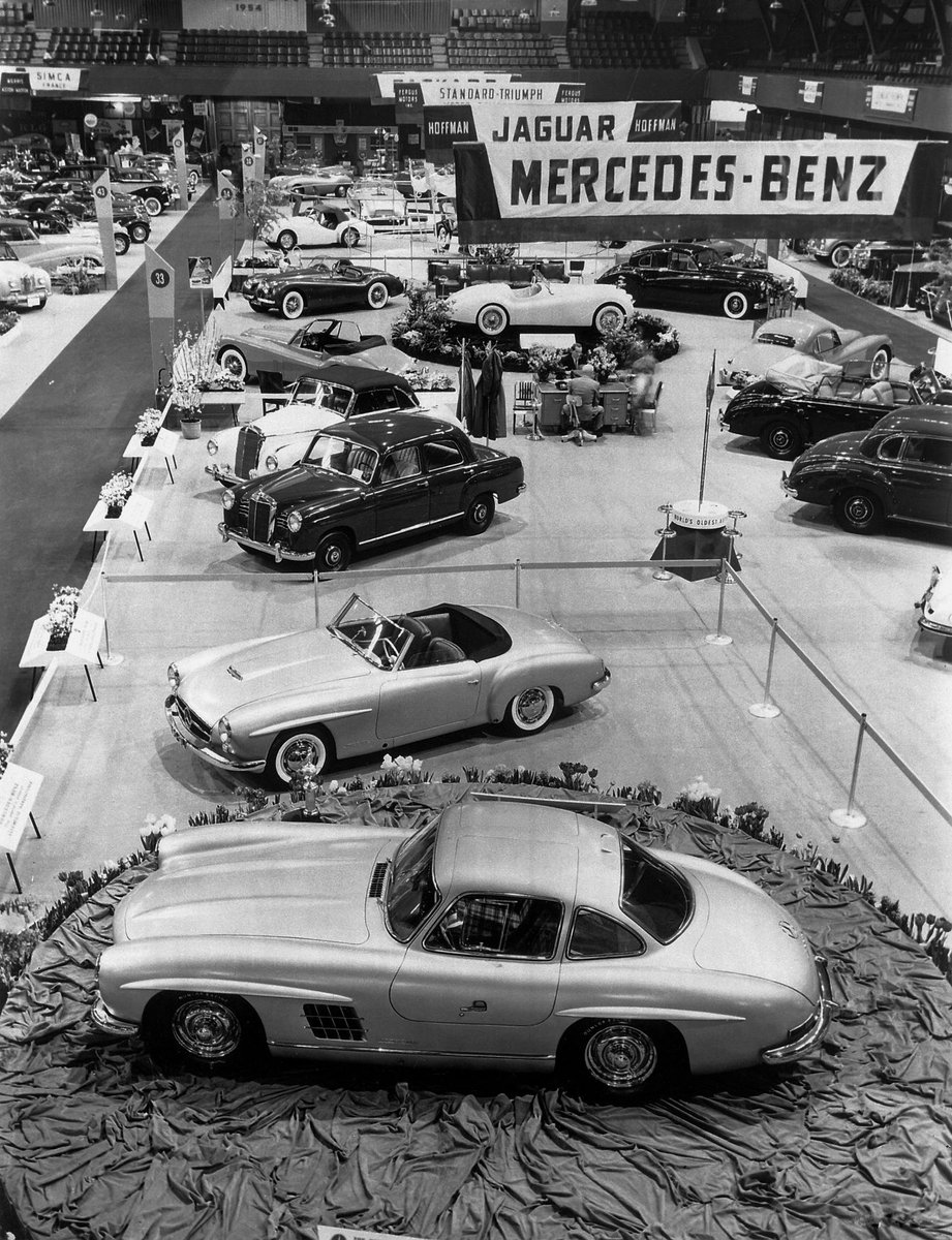 Mercedes-Benz 300SL 190SL 1954 New York Motor Show
