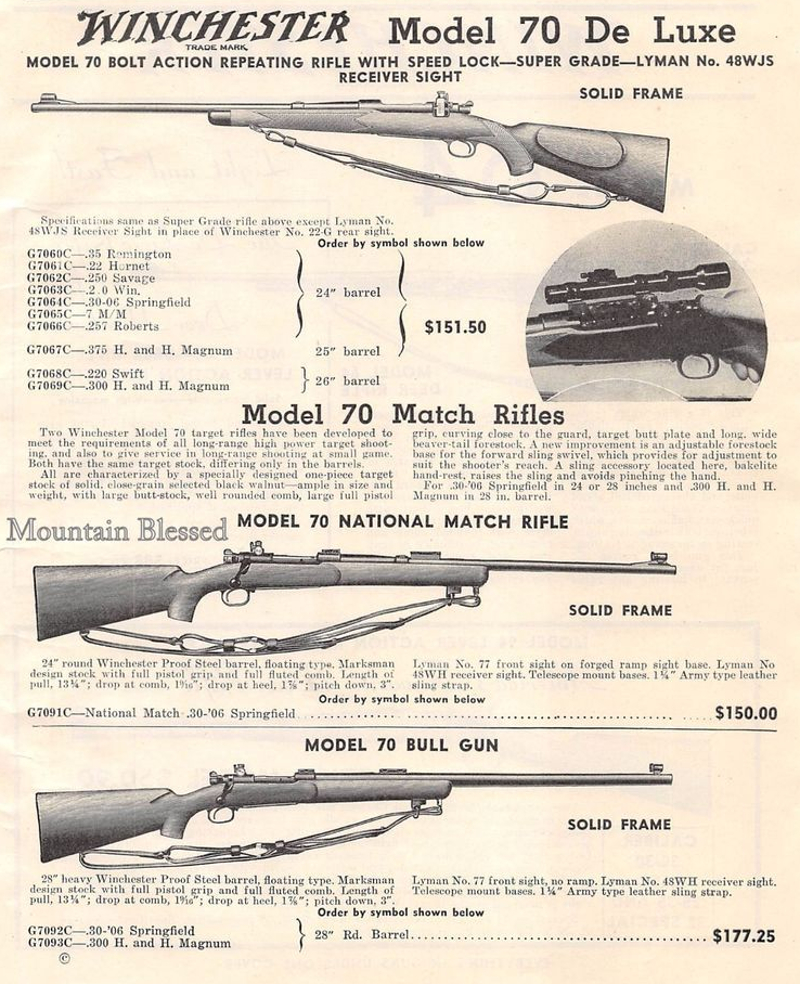 Winchester Model70 advertisement
