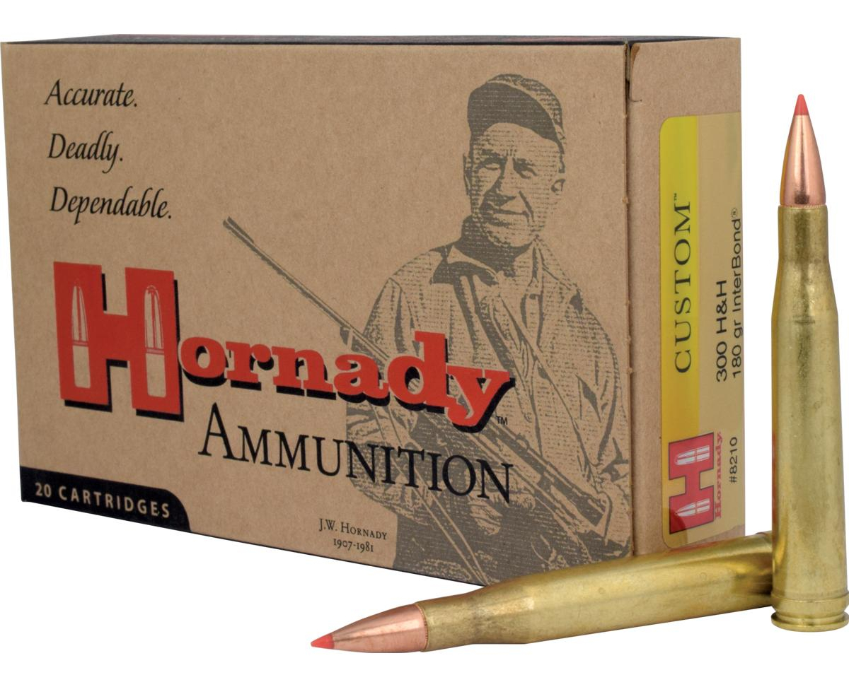 Hornady 300H&H Magnum rifle ammunition