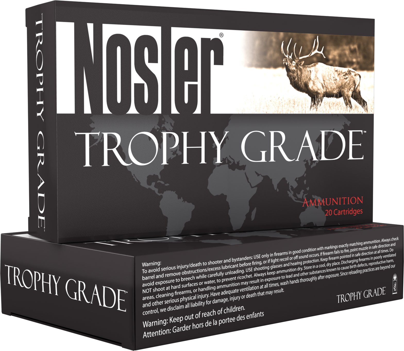 Nosler Trophy Grade rifle ammunition