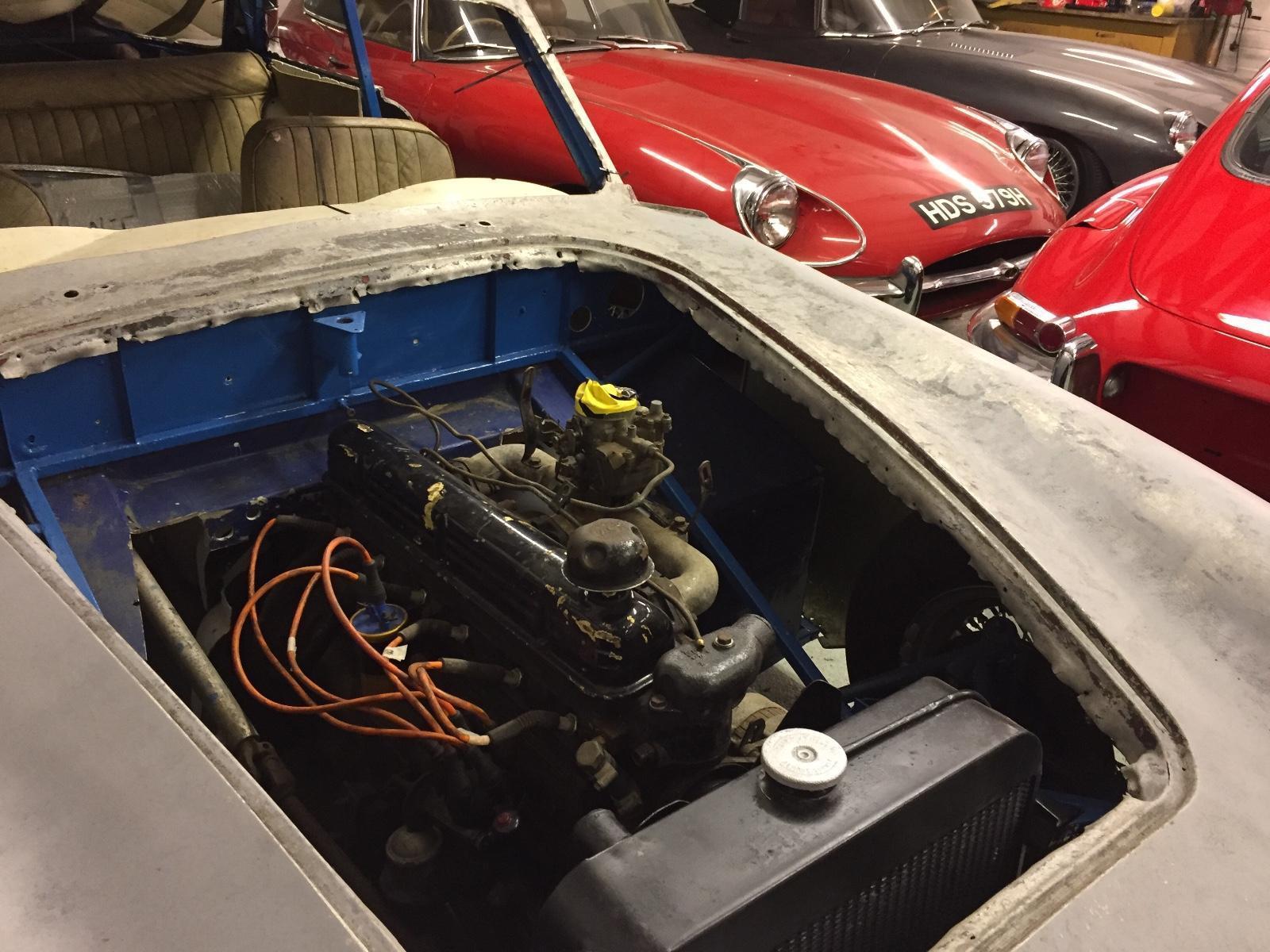 AC Greyhound Project car engine