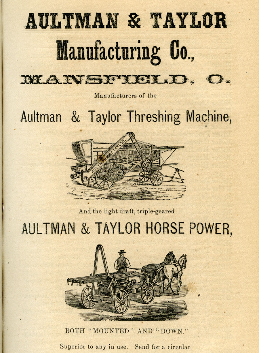 Aultman and Taylor advertisement