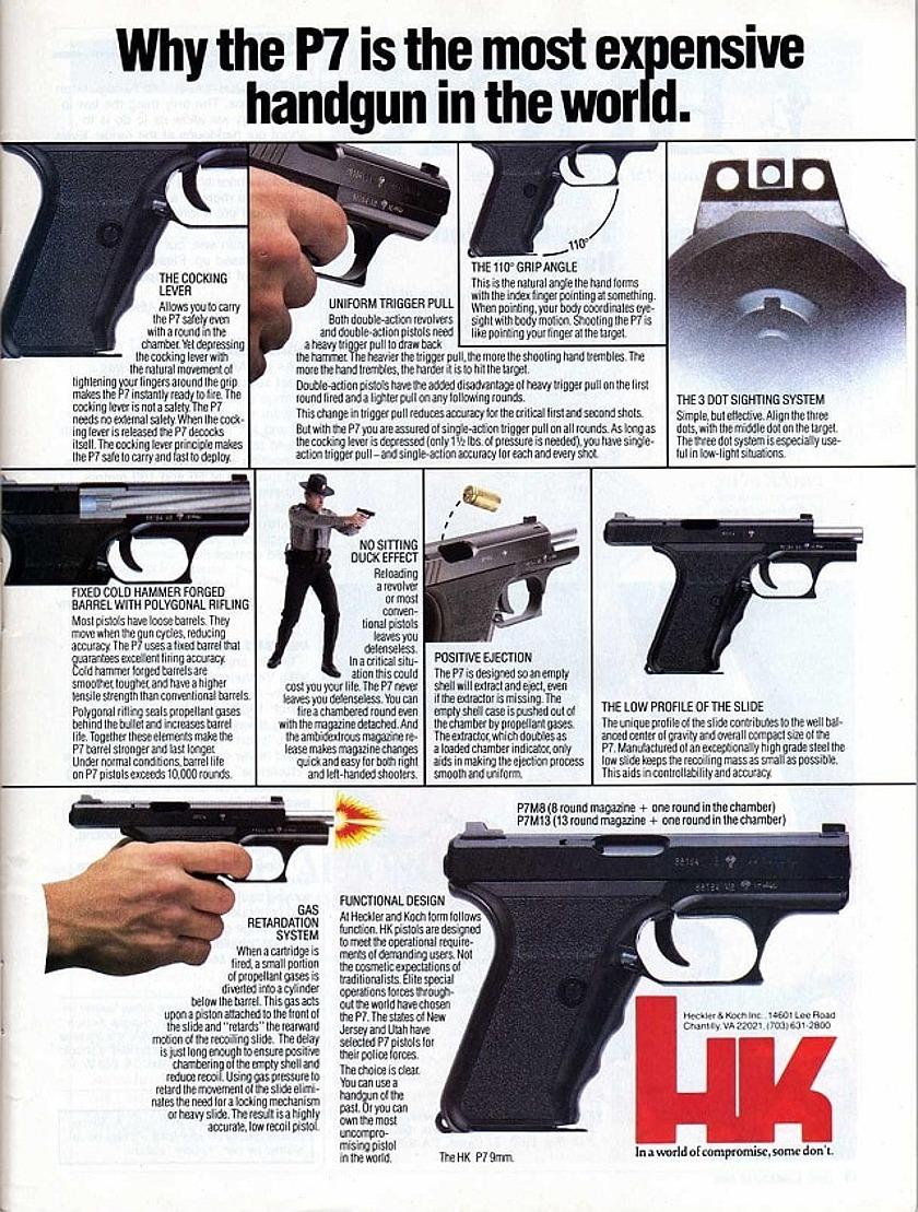 Heckler&Koch P7 advertising