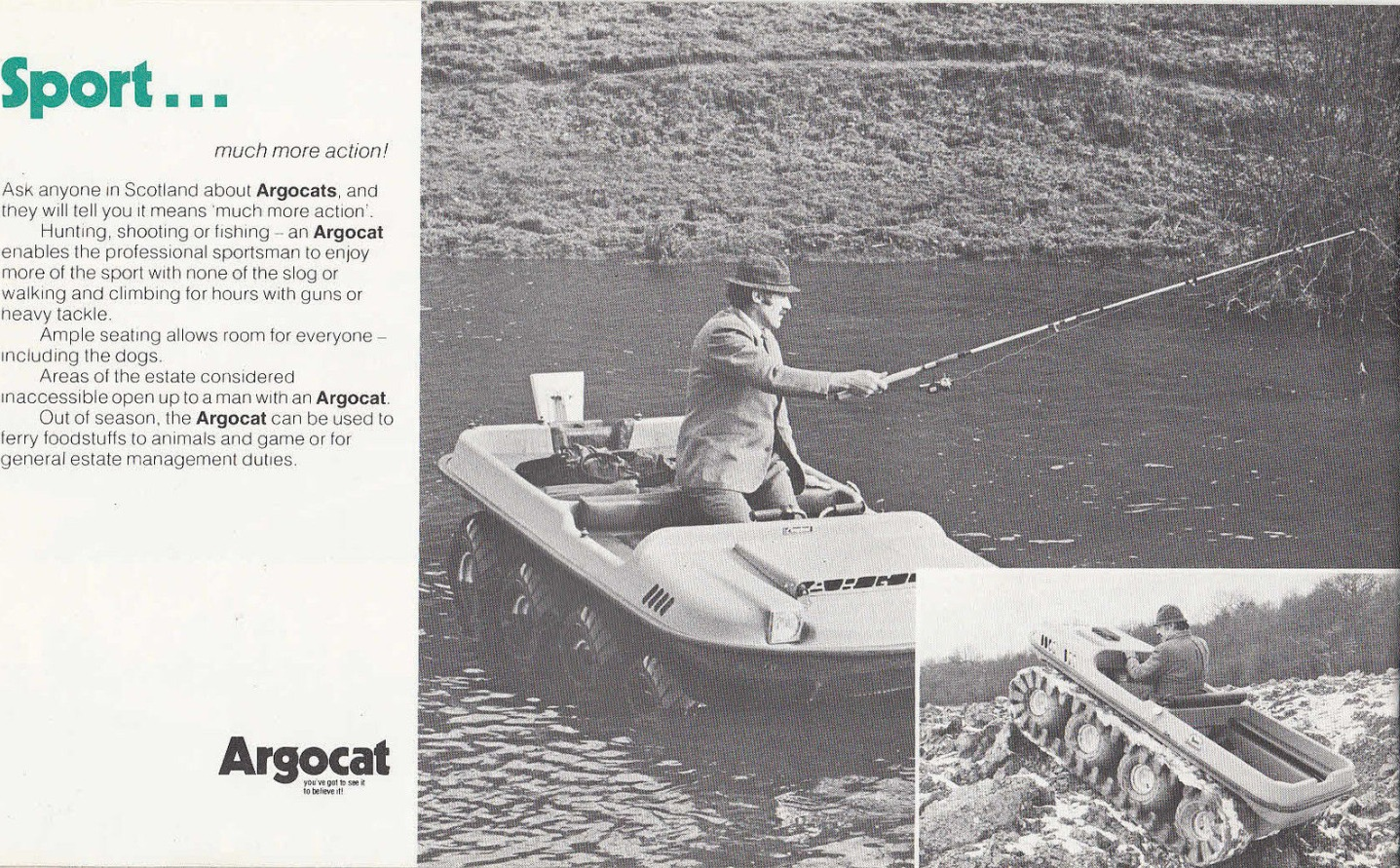 Argocat all terrain vehicle advertisement