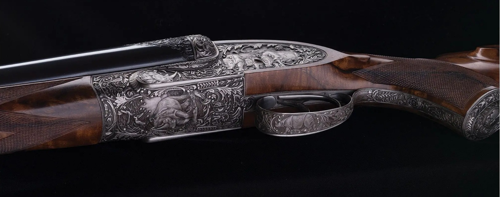 Holland and Holland Phillippe Grifnee engraved double rifle