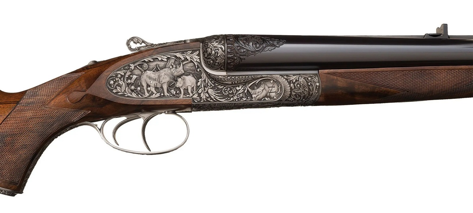 Holland and Holland Phillippe Grifnee engraved double rifle Black rhinoceros