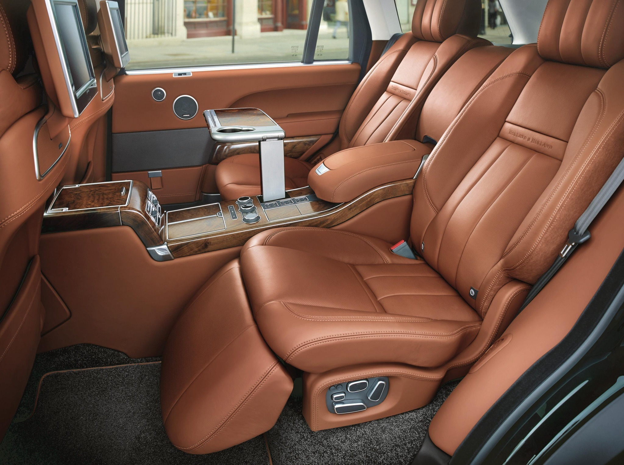 Holland and Holland Range Rover rear seats