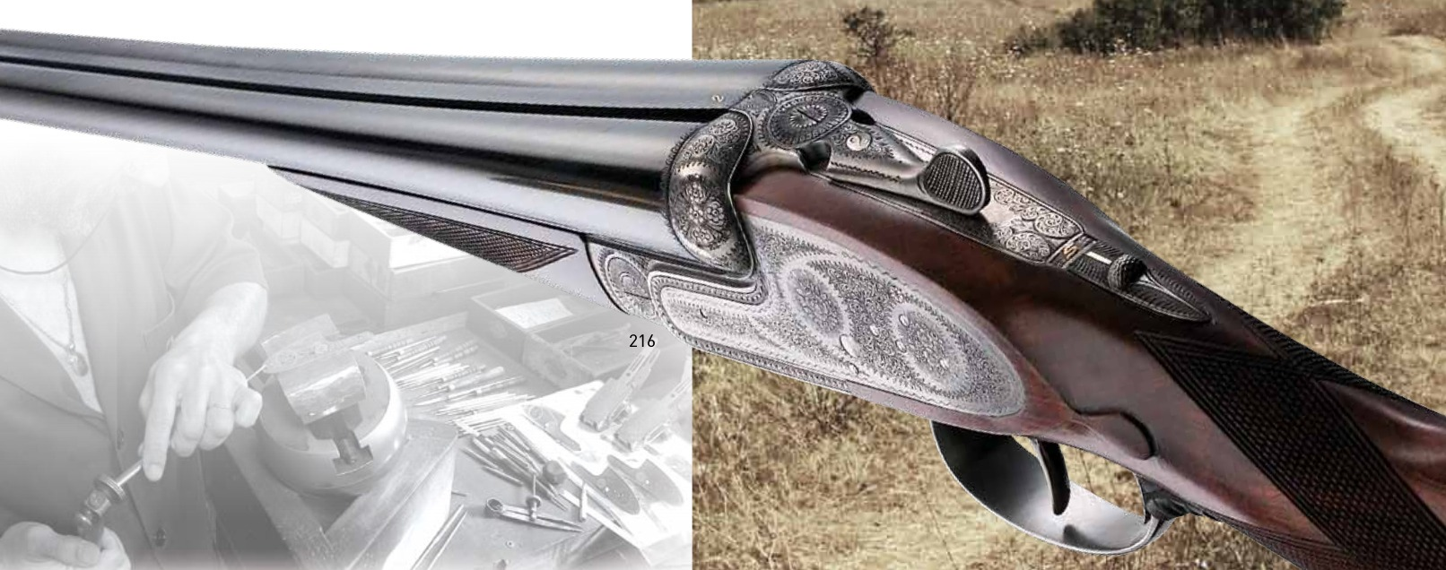 Grulla Armas side by side sidelock ejector shotgun