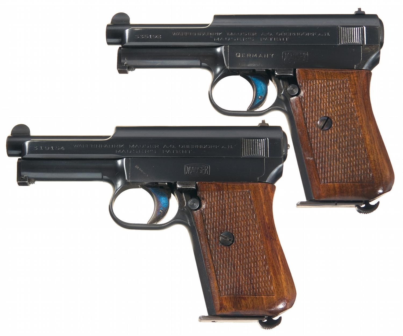 Mauser M1914 automatic pistols